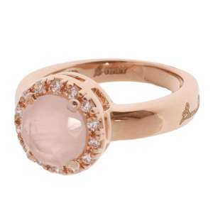 Ring Rosenquarz Bronze plattiert