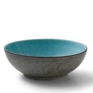 Schüssel 30 cm grau/hellblau