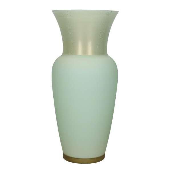 Venini Opalino Vase 36 Cm Pale Yellowgreen Mint Gold Limited