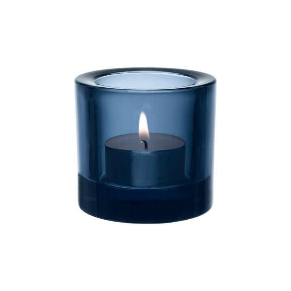 Windlicht 6 cm regenblau