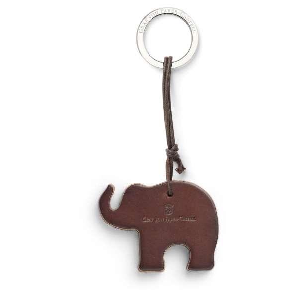 Schlüsselanhänger Elefant dunkelbraun