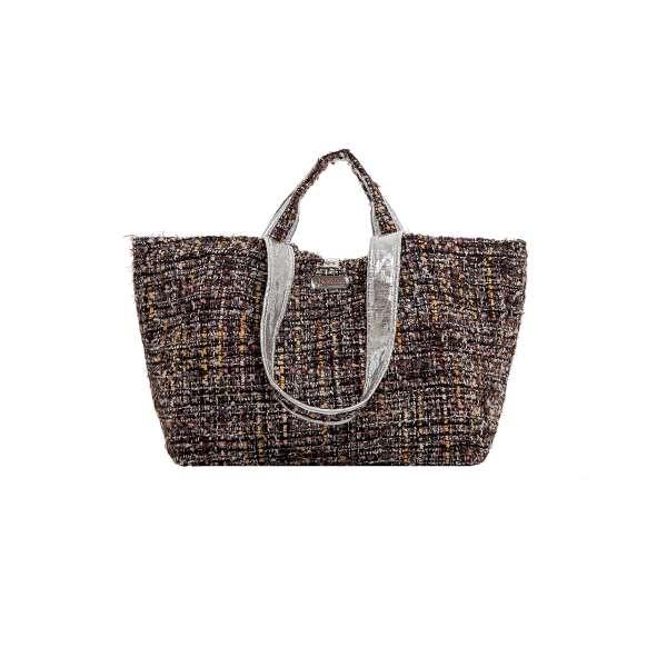 Half Size Bag choc/sand