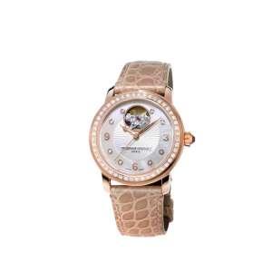 Armbanduhr Heart Beat 56 Brillanten zus. 0,82 ct Edelstahl vergoldet Automatik