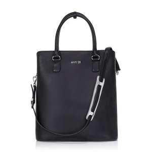 Bag L Nappaleder schwarz/silber BS