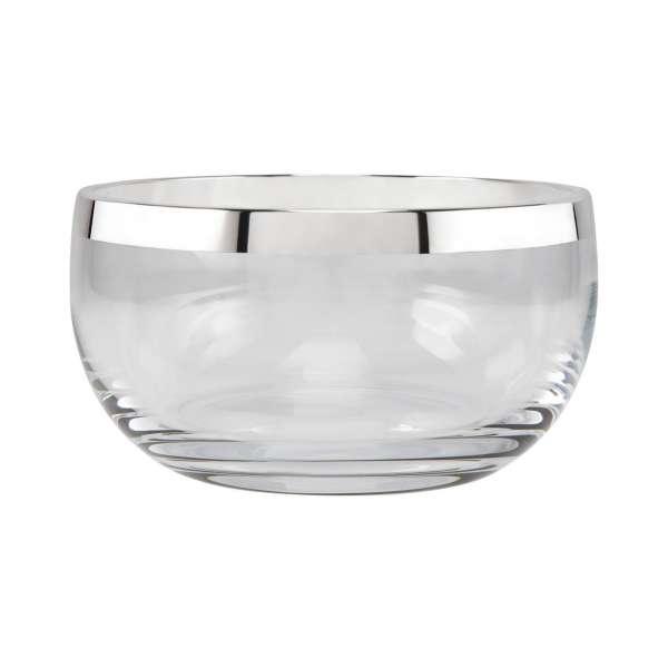 Schale 13 cm Kristall/versilbert