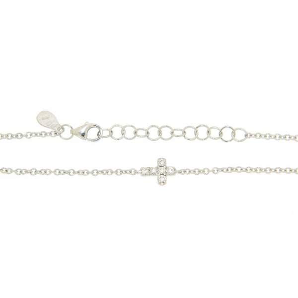 Armband Weißgold 750 Diamanten 0,12 ct G vs
