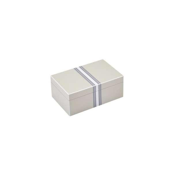 Schmuckbox S m. Streifen flannel