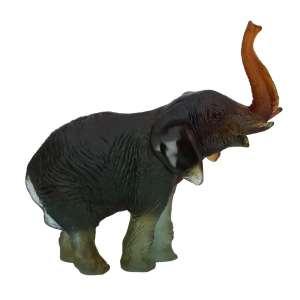 Elefant 22,5 cm grün/bernstein