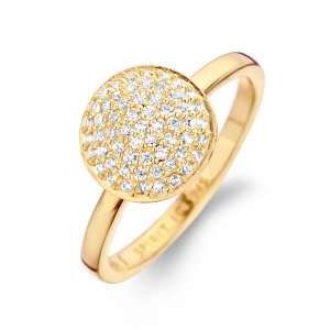 Ring Gold Zirkonia Sterlingsilber