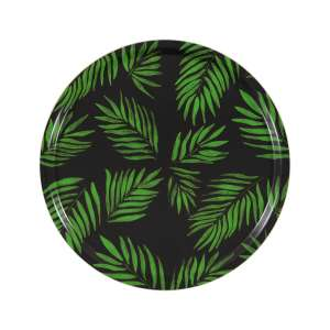 Tablett rund 45 cm grün